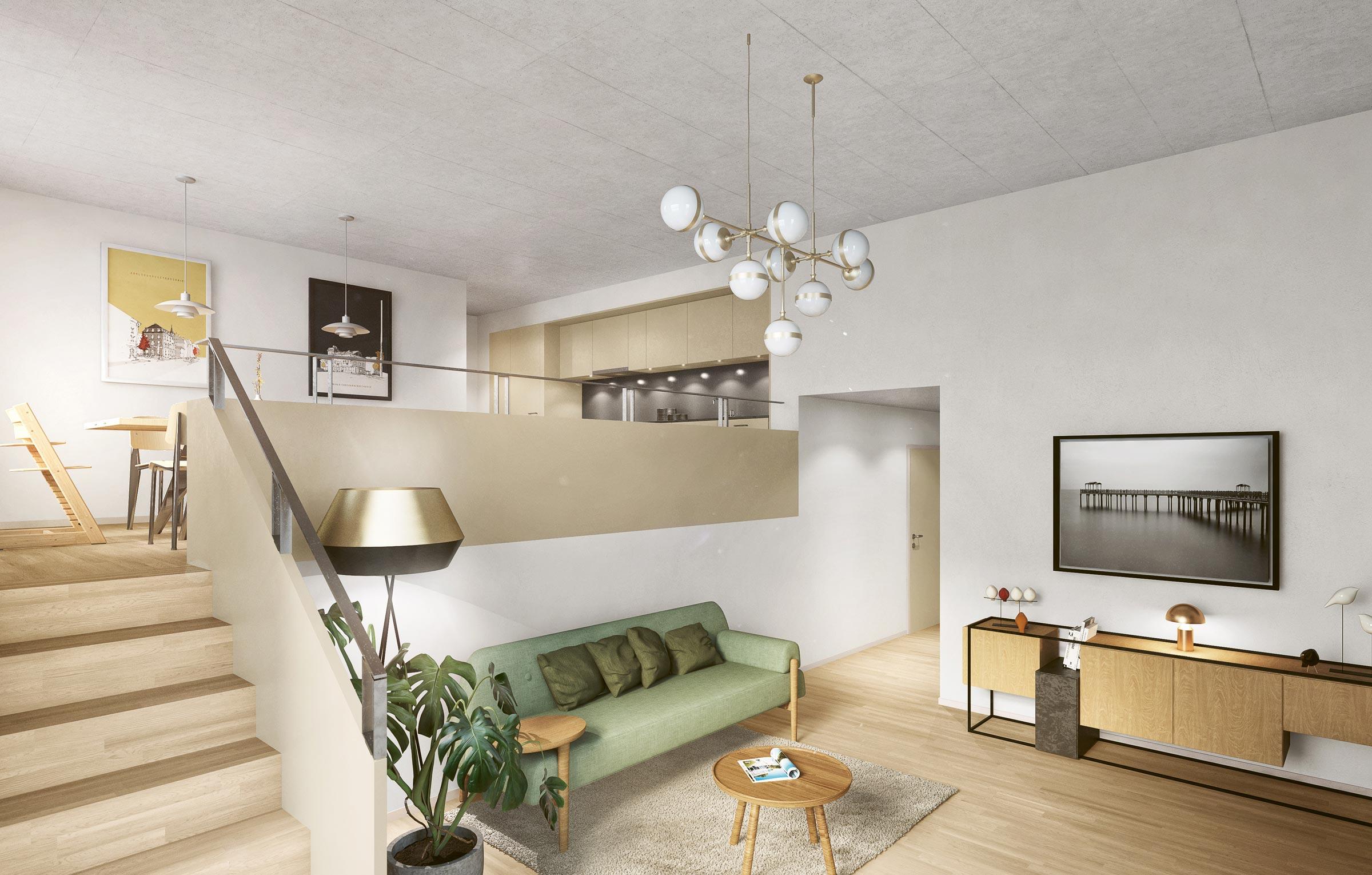 Split-Level-Raumgefühl Wohnung 302 Schwerzestrasse 8, Oetwil am See